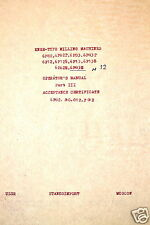 STANKO USSR KNEE-TYPE MILLING MACHINE MANUAL PART III ACCEPTANCE #RR256