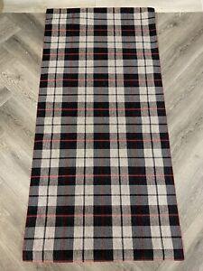 Tartan Carpet Runner Anti Slip Gel Backing 75x160cm. Red,stone & Grey