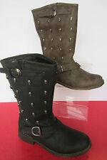 Flache wadenhohe Damen-Stiefel mit Reißverschluss