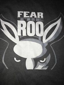 AKRON UNIVERSITY ZIPS FEAR THE ROO T Shirt Grey Men's 2XL By JERZEES DRY POWER