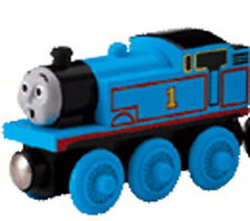 WOW FACED THOMAS the Tank Engine Train RARE NEW Sodor Wooden Railway