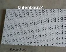 Rundlochung 2 x Tegometall Rückwand gelocht Lochwand 66,5x40 cm weißalu