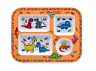 Dinosaurs Divided dinner, meal tray for kids, melamine cute baby BOWL PLATE