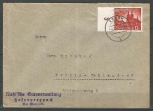 Germany 1940 - Mi-749 SG-737 on Letter Cover Ebern Riehl Hafenpreppach to Berlin