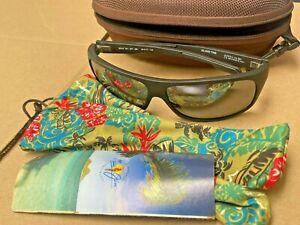 Maui Jim MJ-237-2M Island Time Black matte Polarized Gradient Sunglasses