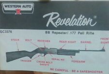 Western Auto Gc3376 Revelation Bb Repeater .177 Pell Rifle Complete