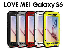LOVE MEI Aluminum Protective Gorilla Glass Case for Samsung Galaxy S6
