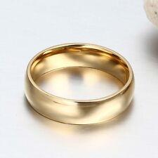 1Pcs Men Women Titanium Steel Band Ring Comfort Fit Plain Engagement Wedding