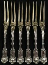 Set Of Six Strawberry Forks Imperial Queen By Whiting Sterling Silver