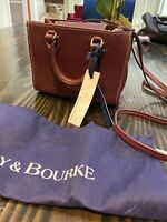 New Dooney & Bourke Burgundy Red Janine Crossbody With Tags & Dust Bag  Small