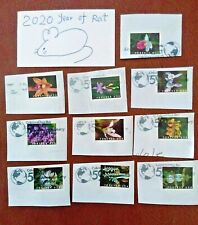 2020 Stamps: One Full Set of 10 US SC#5445-5454 Wild Orchids