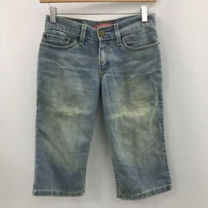 Levi's Faded Denim Shorts UK 4-6 US 0 Light Blue Washed Low Rise Casual 012659