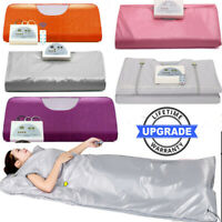 Slimming Heat Sauna Blanket Far-Infrared SPA Detox Machine +Remote Control 2Zone