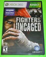Fighters Uncaged (Microsoft Xbox 360, 2010) NEW Requires KINECT