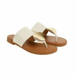 Women Casual Flip Flops Flats Slipper Slip On Summer Beach Shoes Sandals Slides