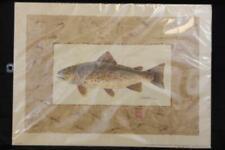 "1994 Peg Wheeler Hope Trout Brown H310 Lithograph Print 12x17"""
