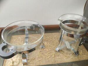 Bodum Grey handle sugar bowl a d creamer milk jug set
