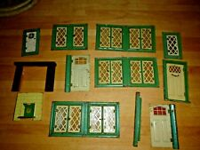 VINTAGE DOLLS HOUSE TRIANG TRI ANG ROMFORD TIN WINDOWS, DOORS FIREPLACE 1950'S