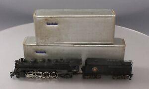 Weathered Tenshodo 135 HO BRASS Great Northern 2-8-2 Steam Locomotive & Tender