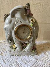 Vintage Kaiser Mantle Clock Elephant Brass / Tin Movement