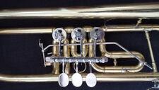 Berkeley Raw Brass Rotary Trumpet Bb  Trigger for 3rd Valve