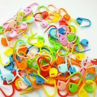 100Pcs Knitting Craft Crochet Locking Stitch Needle Clip Markers Holder_Col O1V1