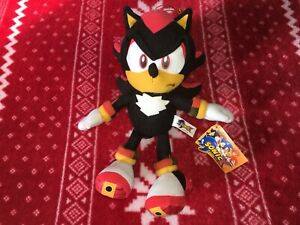 """Official Play-By-Play 7"""" SONIC X SHADOW Sonic Plush Toy Doll 2005 Spain"""