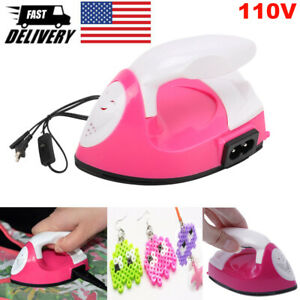 Portable Electric Iron for Patch Spell Bean Mini DIY Craft Tools Travel Iron NEW