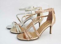 Charleen-01 Bamboo Stiletto Heel Rhinestone Accents Formal Dress Heel Sandals