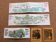5 Empty Vintage Decimal Stamp Booklet Panes