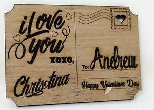 Personalised Wooden Post Card  / Sign, for Mothers Day, Anniversary, Birthday