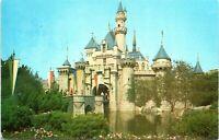 1950s Disneyland Red D-1 Sleeping Beauty's Castle Fantasyland Unused Postcard AN