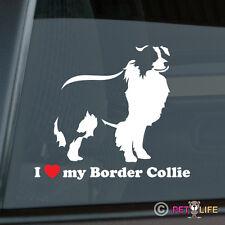 I Love My Border Collie Sticker Die Cut Vinyl - sheep dog