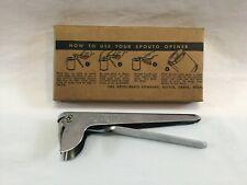 Vintage Spouto Can Opener Keyes - Davis Co. Battle Creek Michigan (BB106)