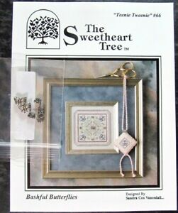 6x Xstitch Kit/Pattern  Butterflies/Berries/Heart/Snow Crystal/Sweetheart-OR5