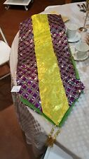 "14"" x 72"" Mardi Gras purple dazzle Table Runner, Mardi Gras decorations"