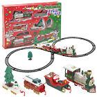 Christmas Musical Light Train Trees Box Set Xmas Ornament Decor Kid Gift Toy hi