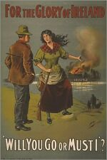 IRISH RECRUITMENT POSTER WW1 vintage war poster MILITARY political 24X36 new