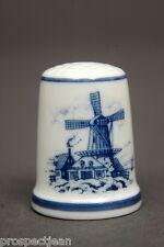 TCC Royal Mosa Dutch Windmill China Thimble B/27