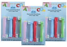 12x Oral b kompatible Kinder Aufsteckbürsten Ersatzbürsten in bunten Farben Neu