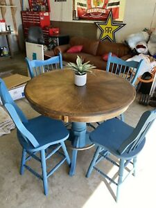Pub  Table  set-pub  Table  and  4 counter  height  chairs