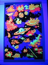 Vintage 1960s 70s Psychedelic Blacklight Poster GALAXY Very RARE SUPER TRIPPY