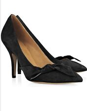 Isabel Marant Black Suede Bow Embellished Poppy Pumps Size 9 / 39