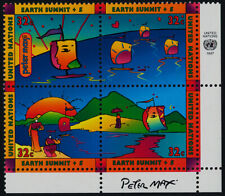 United Nations - New York 707a BR Block MNH Earth Summit, Ship