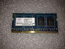 Memoria SoDimm DDR2 Nanya NT512T64UH8A0FN-37B 512MB PC2-4200 533MHz CL4 200 Pin