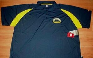 San Diego Los Angeles Chargers Polo Shirt 6XL Stay Dry NFL Embroidered Logo NCAA