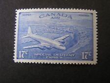 CANADA, SCOTT # CE3, 17c. VALUE BRIGHT ULTRA 1943 AIR POST SPECIAL DC-4  MNH