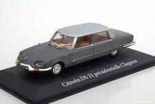 CITROEN DS 21 PRESIDENTIELLE CHAPRON 1969 DE GAULLE GREY METAL EDITIONS ATLAS