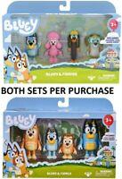 Bluey & Family toys 4 PACK FIGURINE SET + series 2 - 4 pack figurines set