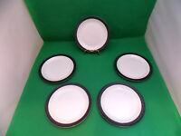 Poole Pottery Charcoal Side Plates x 5